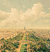 Vue panoramique aérienne de Paris et la Seine river vu de Eiff