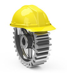 safety helmet and gearwheel