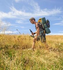auf Trekkingtour unterwegs