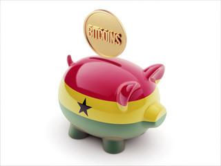 Ghana Bitcoin Concept Piggy Concept
