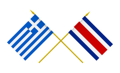 Flags, Costa Rica and Greece