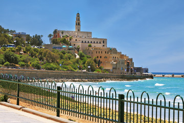 Ancient and modern port of Jaffa