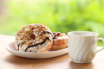 ドーナツとコーヒー