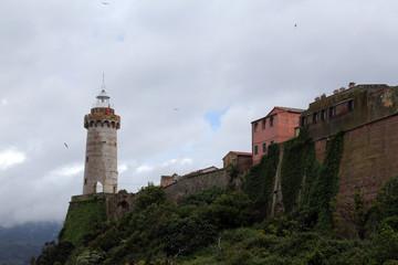 Forte Stella Lighthouse, Portoferraio, Isle of Elba, Italy.