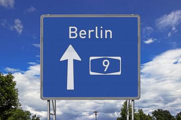 Autobahnschild A9 Berlin
