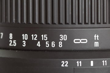 Close - up detail of camera lens