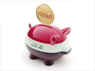 Iraq Charity Concept Piggy Concept