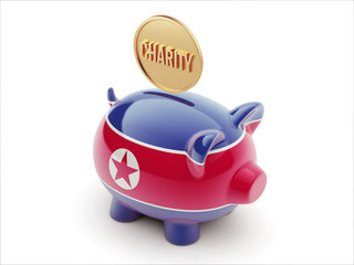 North Korea Charity Concept Piggy Concept