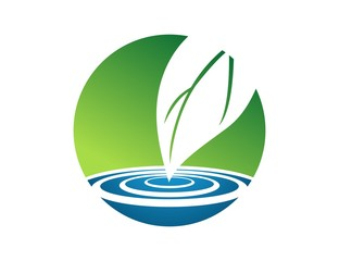 water drop logo,dew water symbol,spring nature icon