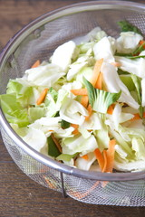 fresh sliced and chopped vegetables for fried vegetables