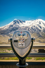 Binoculars at Mt. St. Helens