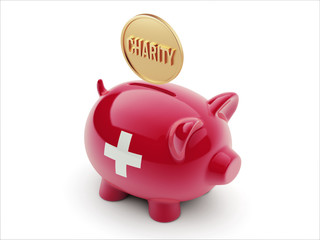 Switzerland Charity Concept Piggy Concept