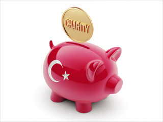 Turkey Charity Concept Piggy Concept