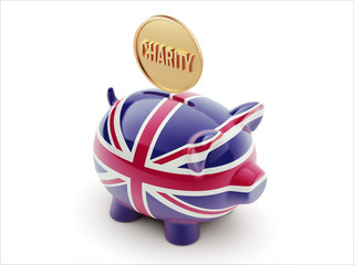 United Kingdom Charity Concept Piggy Concept