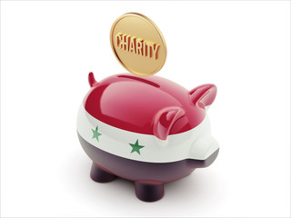 Syria Charity Concept Piggy Concept