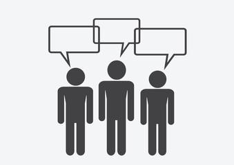 Man People Thinking Talking Conversation Icon Symbol Sign Pictog