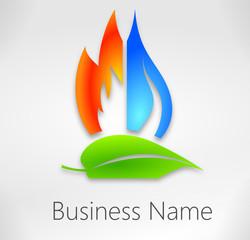 logo énergies renouvelables plombier chauffagiste