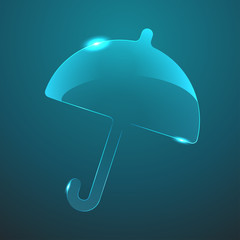 Vector glass umbrella icon. Eps10