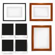 frame and shadow set, wooden frame, polaroid