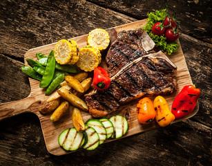 Delicious steakhouse porterhouse steak