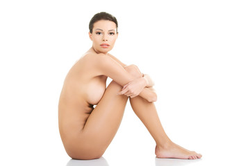 Sexy fit naked woman