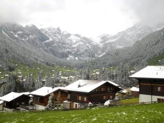 Winter Wonderland Adelboden Switzerland