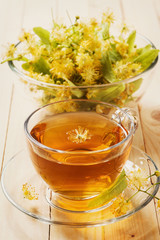 Tea made from linden flowers