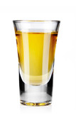 Fototapety Gold tequila shot isolated on white