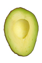 Fresh avocado isolated on a white background