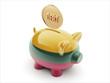 Lithuania Debt Concept Piggy Concept