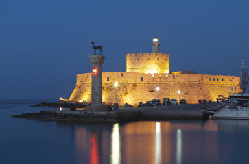 Saint Nikolaos fortress at Rhodes island in Greece
