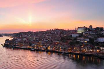 City of Porto at sunset