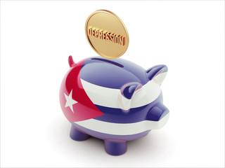 Cuba Depression Concept. Piggy Concept