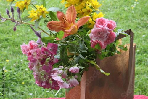 Staande foto Hydrangea Blumige Tüte