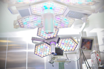 Surgical lamp in operating room
