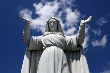 Italy. Liguria. Santa Margherita town. Saint Margarita's statue