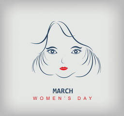 Sketch of a beautiful girl  for Happy Women's Day