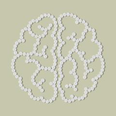 pills concept: brain