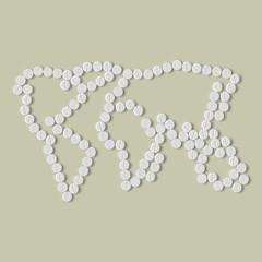 pills concept: map