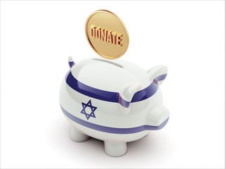 Israel Donate Concept Piggy Concept