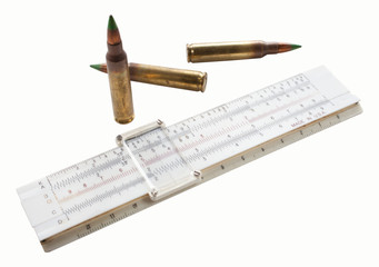 Cartridges and slide rule