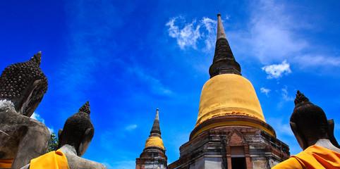 Wat Yai Chai Mongkol in Ayutthaya province of Thailand
