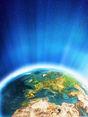 Glowing Earth - Europe