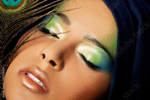 canvas print picture Beautiful woman with  professional make-up