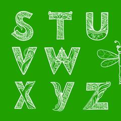 Summer Hatching Decorative Font, part 3