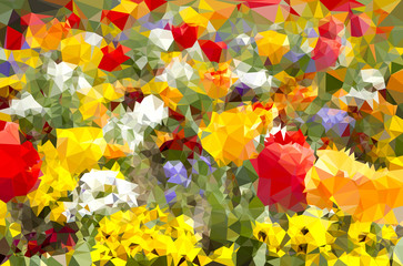 Geometrical Flower Background