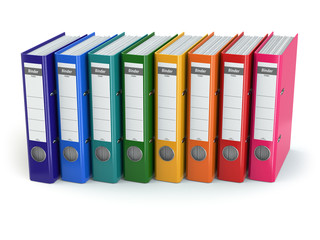 Row of office binders.