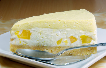 Mango cheesecake,seasoning dessert.