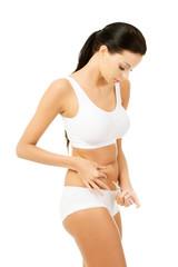 Diabetes make an abdomen insulin injection