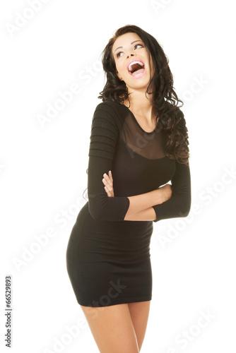 Pretty woman wearing dress